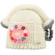 Barts Phone Home Beanie Kids Ski Hat in Cream