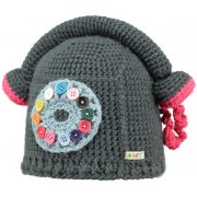 Barts Phone Home Beanie Kids Ski Hat in Dark Heather