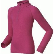 Odlo Warm Kid Longsleeve Ski Thermal Top in Violet Pink