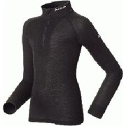 Odlo Warm Kid Longsleeve Ski Thermal Top in Black