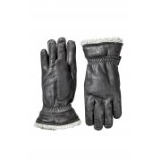 Hestra Deerskin Primaloft Womens Ski Gloves in Black