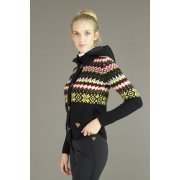 Postcard Leysin Womens Knitted Top in Black