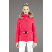 Poivre Blanc Womens Belted Stretch Ski Jacket in Sunset