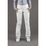 Bogner Nikka Womens Softshell Ski Pant in White/Silver Stripe