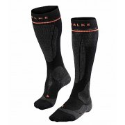 Falke SK Energizing Wool Womens Compression Ski Socks in Black