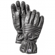 Hestra Leather Swisswool Classic Ski Gloves in Black