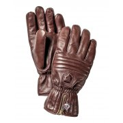 Hestra Leather Swisswool Classic Ski Gloves in Brown
