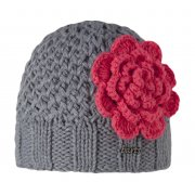 Barts Rose Beanie Kids Ski Hat in Heather Grey