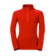 Odlo Le Tour Kids 1/2 Zip Fleece Top in Formula One Red
