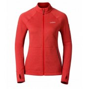 Odlo Les Arcs Full Zip Womens Midlayer in Pomegranate Melange