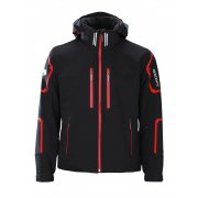 Descente Bullet Mens Ski Jacket in Black and Red