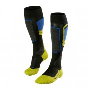 Falke SK4 Race Pro Mens Ski Socks in Black and Lime