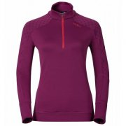 Odlo Jackson Hole 1/2 Zip Womens Midlayer in Magenta Purple