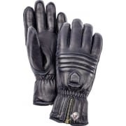 Hestra Leather Swisswool Classic Ski Gloves in Navy