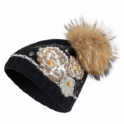 Bogner Philly Womens Designer Ski Hat in Black