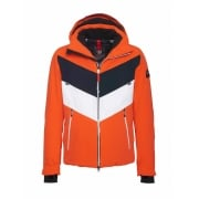 Bogner Manilo Mens Ski Jacket in Orange Navy