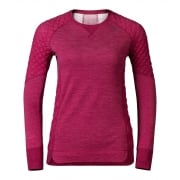 Odlo Revolution X-Warm Crew Neck Womens Baselayer in Sangria
