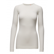 Falke Womens Wool Tech LS Crew Shirt Regular fit in White