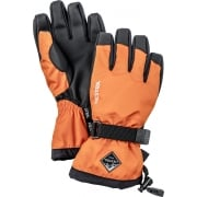 Hestra Czone Gauntlet Jr Ski Glove in Light Orange and Black