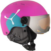 CEBE Fireball Junior Visor Ski Helmet in Pink