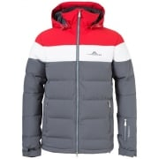 J.Lindeberg Crillon Down Mens Ski Jacket in Red Intense