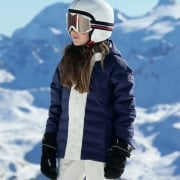 Fusalp Backcountry Girls Ski Jacket in Blue Print