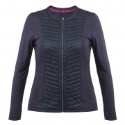 Poivre Blanc Womens Tennis Jacket In Marina Blue