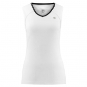 Poivre Blanc Womens Tennis V Neck Tank In White and Black