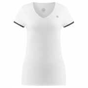 Poivre Blanc Womens Tennis V Neck T Shirt In White and Black