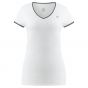 Poivre Blanc Womens Tennis V Neck T Shirt In White and Shadow