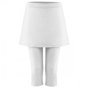 Poivre Blanc Womens Tennis Capri Skirt in White