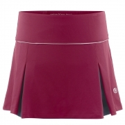 Poivre Blanc Womens Tennis Skort in Wine Red and Navy