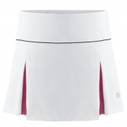 Poivre Blanc Womens Tennis Skort in White and Wine Red