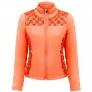 Poivre Blanc Stretch Fleece Jacket In Fiesta Orange