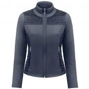 Poivre Blanc Stretch Fleece Jacket In Gothic Blue
