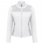 Poivre Blanc Stretch Fleece Jacket In White