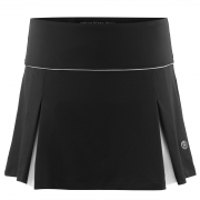 Poivre Blanc Womens Tennis Skort in Black and White