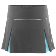 Poivre Blanc Womens Tennis Skort in Shadow Grey and Hawaii Blue