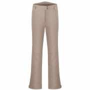 Poivre Blanc Stretch Fitted Ski Pants in Dove Brown