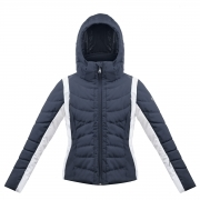 Poivre Blanc Junior Girls Quilted Ski Jacket in Gothic Blue