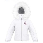 Poivre Blanc Girls Ski Jacket in White