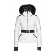 Goldbergh Kago Faux Fur Womens Ski Jacket in White