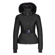 Goldbergh Kago Faux Fur Womens Ski Jacket in Black
