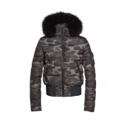 Goldbergh Chika Womens Ski Jacket With Fur Real in Jungle