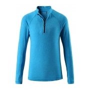 Reima Sly Junior 1/2 Zip Baselayer Top in Blue