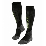 Falke SK5 Mens Ski Socks in Black Lighting