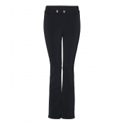 Bogner Emilia Long Leg Fitted Ski Pant With Gold Detail in Black