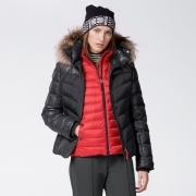 Bogner Sally 3 D Womens Ski Jacket in Black with Luxe trim
