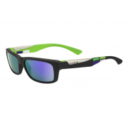 Bolle Jude Matte Black Square Blue with Blue Violet Lens