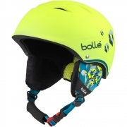Bolle B-Free Junior Ski Helmet in Soft Neon Yellow Blocks